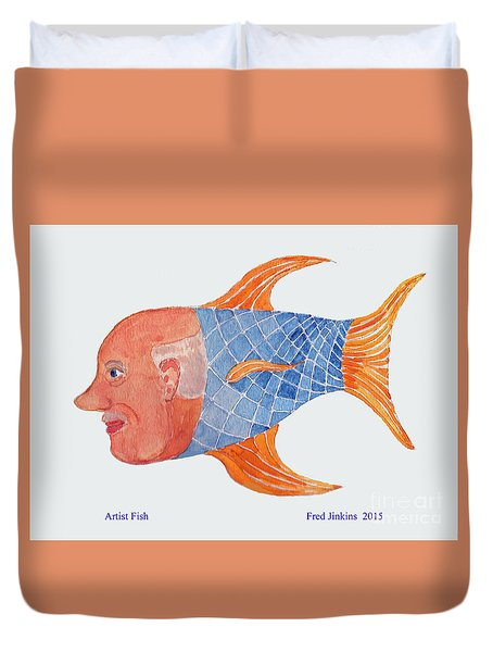 Happy Artist Fish Duvet Cover