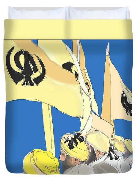 Happy Baisakhi Abstractart  Duvet Cover