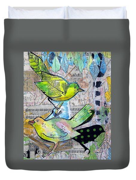 Happy Birds Duvet Cover