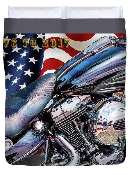 Happy Birthday America Duvet Cover