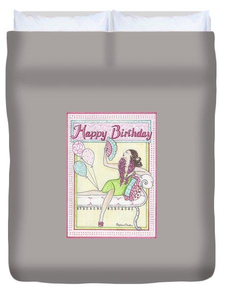 Happy Birthday Duvet Cover