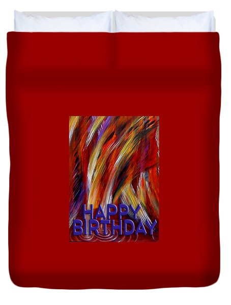 Happy Birthday  Duvet Cover