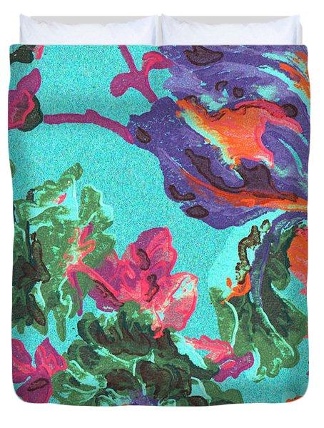 Happy Blooms Duvet Cover