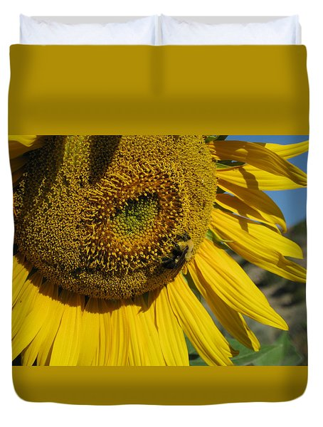 Happy Bumble Bee Duvet Cover