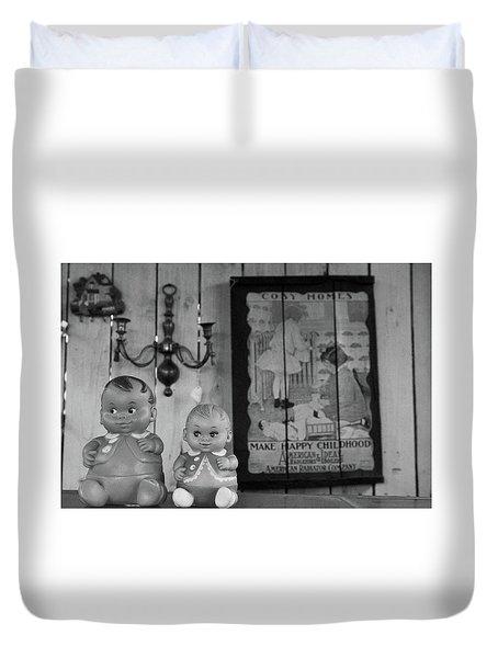 Happy Childhood Duvet Cover by Ralph Vazquez