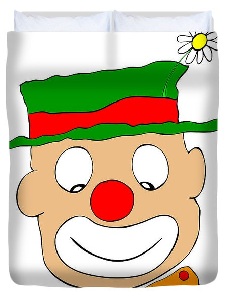 Happy Clown Duvet Cover by Michal Boubin