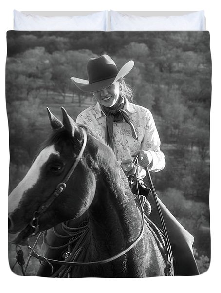 Happy Cowgirl Duvet Cover