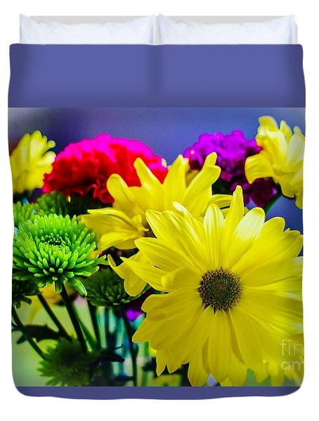 Happy Day Flowers Duvet Cover