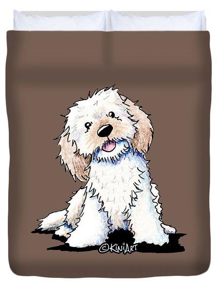 Happy Doodle Puppy Duvet Cover