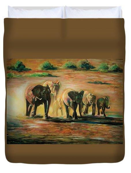Happy Family Duvet Cover by Khalid Saeed