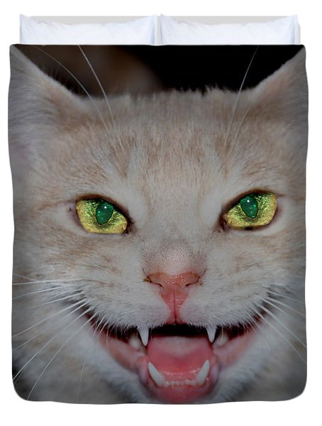 Happy For Spring Cat Duvet Cover
