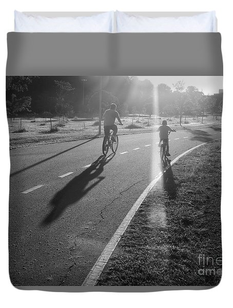 Duvet Cover featuring the photograph Happy Forever by Beto Machado