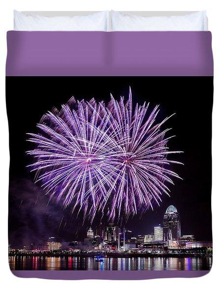 Happy Fourth Cincinnati Duvet Cover