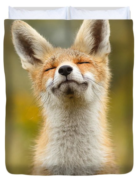 Happy Fox Duvet Cover