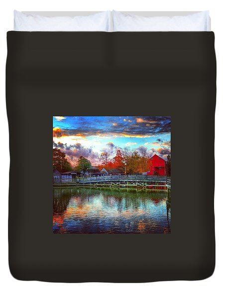 Reflections At Smithville Duvet Cover