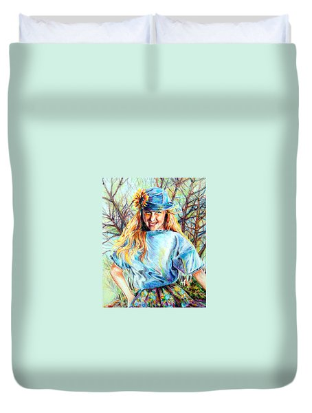 Happy Girl Duvet Cover
