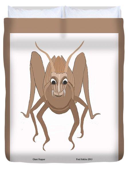 Happy Grasshopper Duvet Cover
