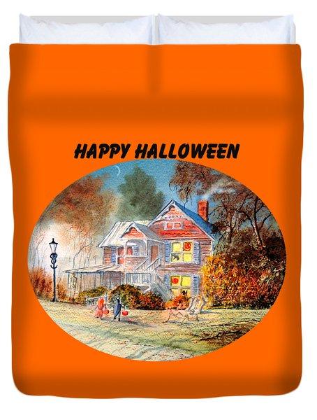 Happy Halloween Duvet Cover by Bill Holkham