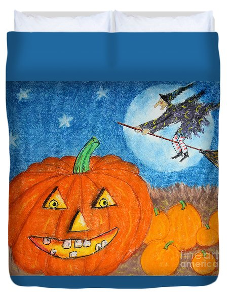 Happy Halloween Boo You Duvet Cover