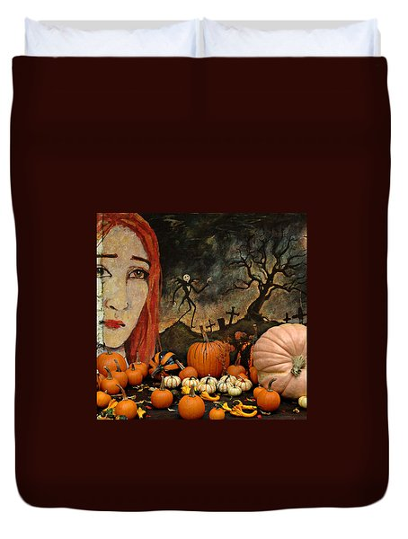 Happy Halloween Duvet Cover by Jeff Burgess