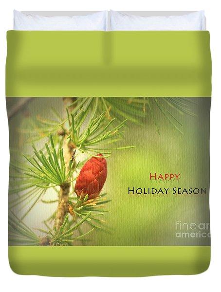 Happy Holiday Season Card Duvet Cover by Aimelle