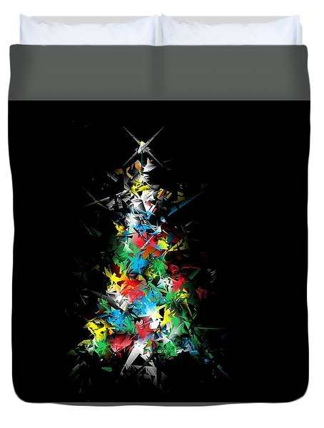 Happy Holidays - Abstract Tree - Horizontal Duvet Cover