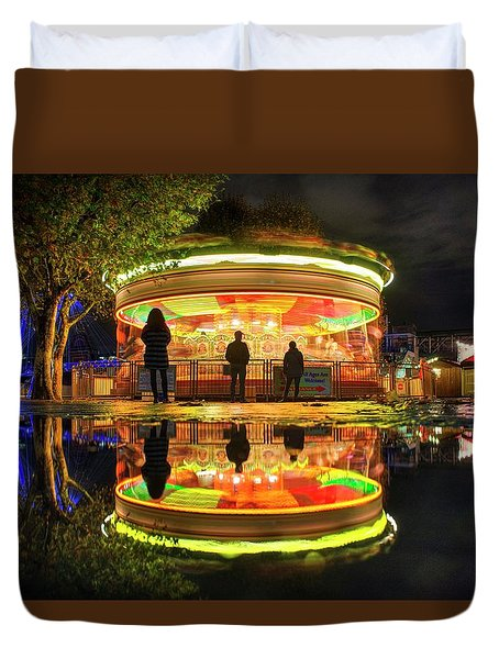Duvet Cover featuring the photograph Happy Holidays by Quality HDR Photography