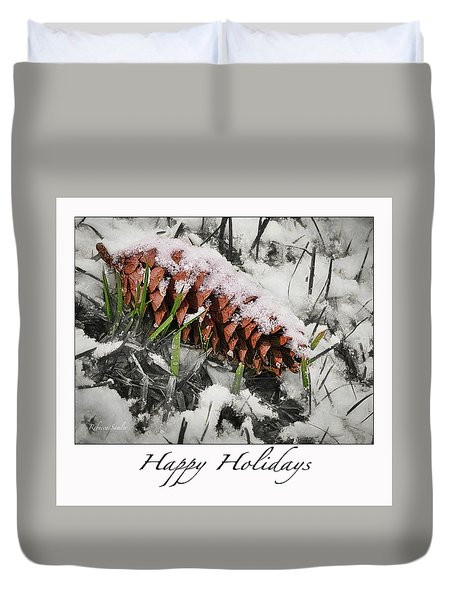 Happy Holidays Duvet Cover