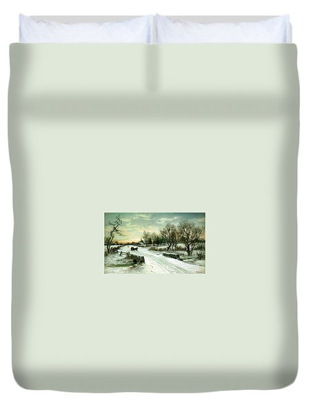 Happy Holidays Duvet Cover by Travel Pics