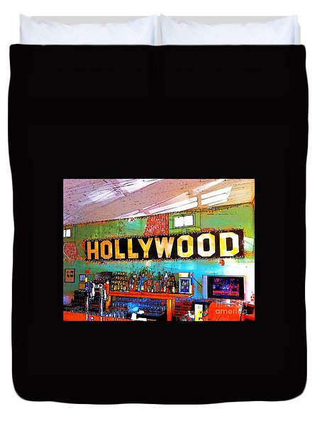 Happy Hour At The Hollywood Cafe Duvet Cover