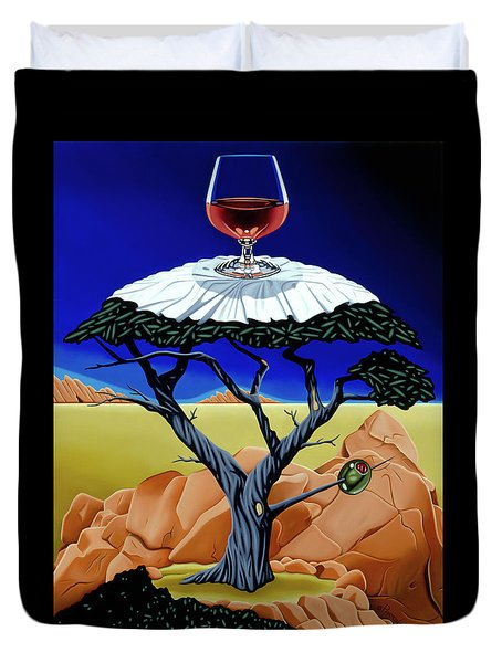 Happy Hour At The Midreal Cypress Duvet Cover