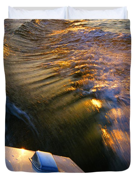 Happy Hour - Lake Geneva Wisconsin Duvet Cover