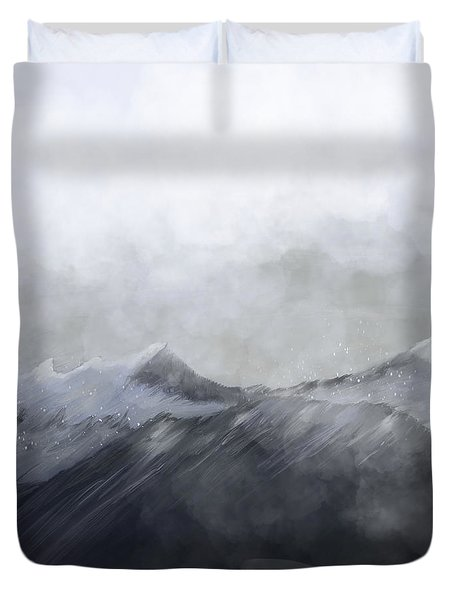 Happy In The Mountains Duvet Cover