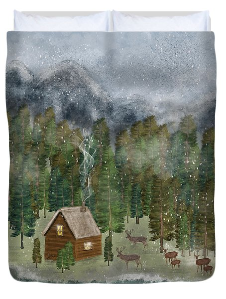 Happy In The Wilderness Duvet Cover
