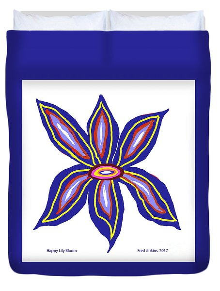 Happy Lily Bloom Duvet Cover