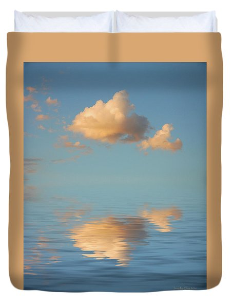 Happy Little Cloud Duvet Cover by Jerry McElroy