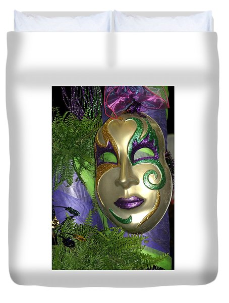 Duvet Cover featuring the photograph Happy Mardi Gras by Living Color Photography Lorraine Lynch
