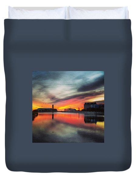 On Fire Duvet Cover