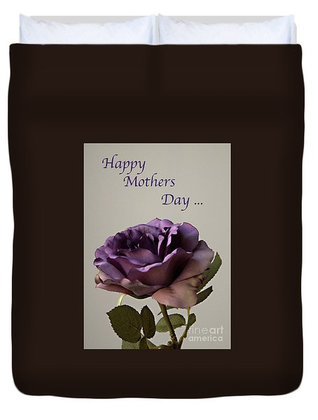 Happy Mothers Day No. 2 Duvet Cover by Sherry Hallemeier
