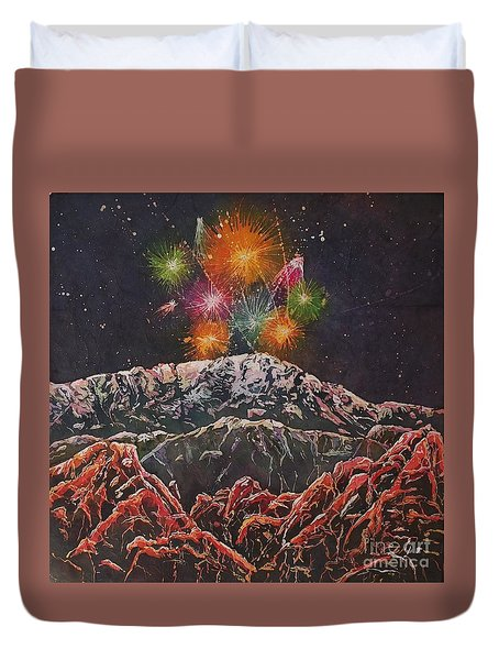 Happy New Year From America's Mountain Duvet Cover
