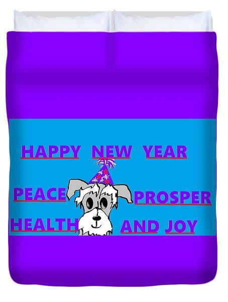 Happy New Year Duvet Cover by Linda Velasquez