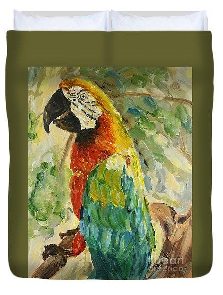 Happy Parrot Duvet Cover