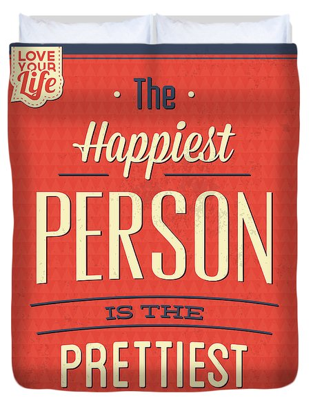 Happy Person Duvet Cover