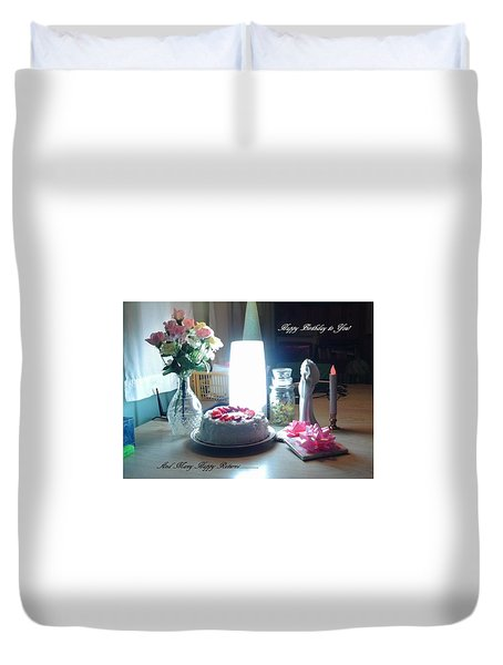Happy Returns Duvet Cover