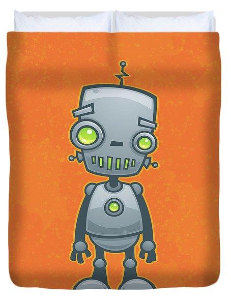 Happy Robot Duvet Cover by John Schwegel