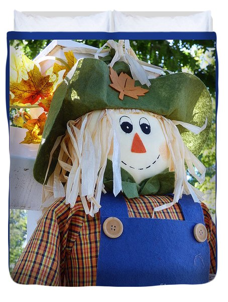 Happy Scarecrow Duvet Cover