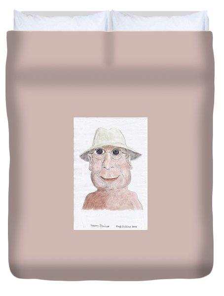 Happy Senior Duvet Cover