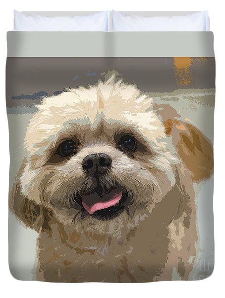 Happy Shih Tzu Duvet Cover