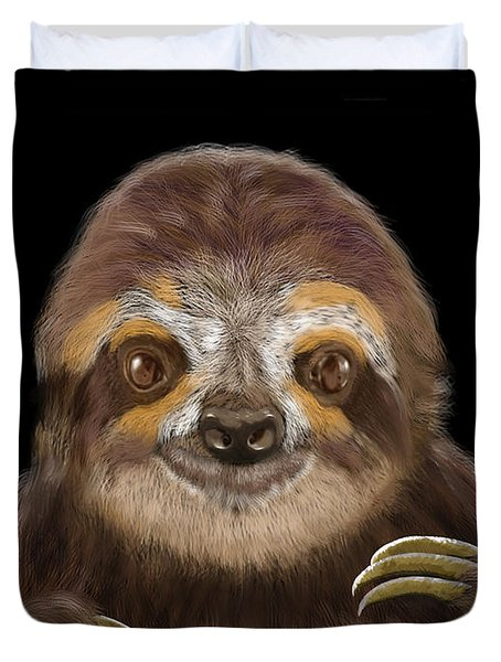 Happy Three Toe Sloth Duvet Cover