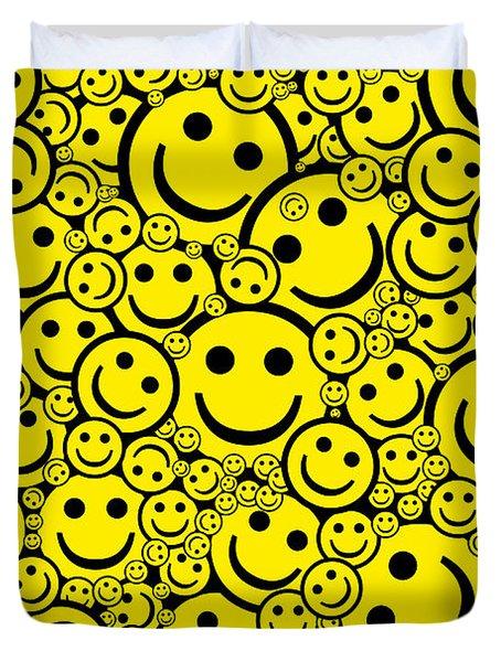 Happy Smiley Faces Duvet Cover